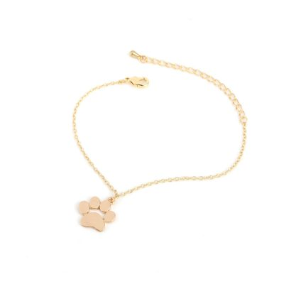 Cat and Dog Paw Print Animal Bracelet - Rose Gold