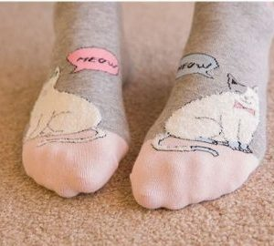 Sweet cats socks pink socks