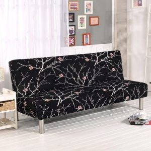 armless sofa bed cover stretchable elastic