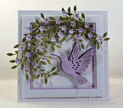 KC Hero Arts Paper Layering Hummingbird Pair 1 center