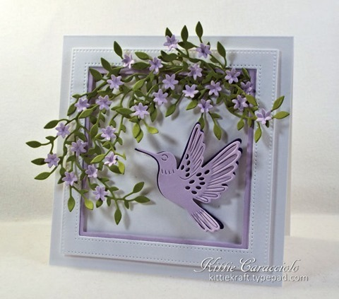 KC Hero Arts Paper Layering Hummingbird Pair 1 right