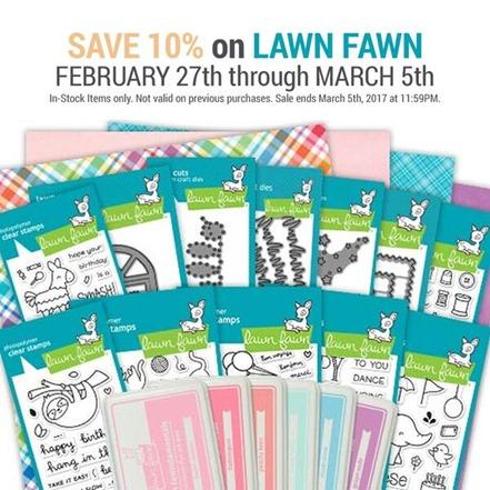 lawn fawn sale