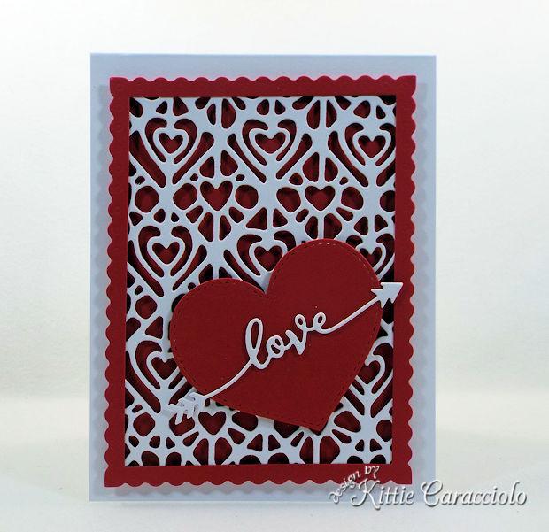 Die Cut Heart Valentine Card is so much fun to make