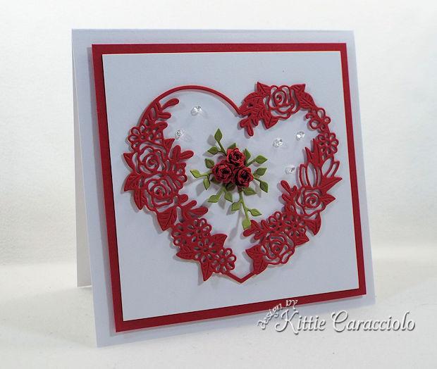Floral Heart Frame Valentine Card