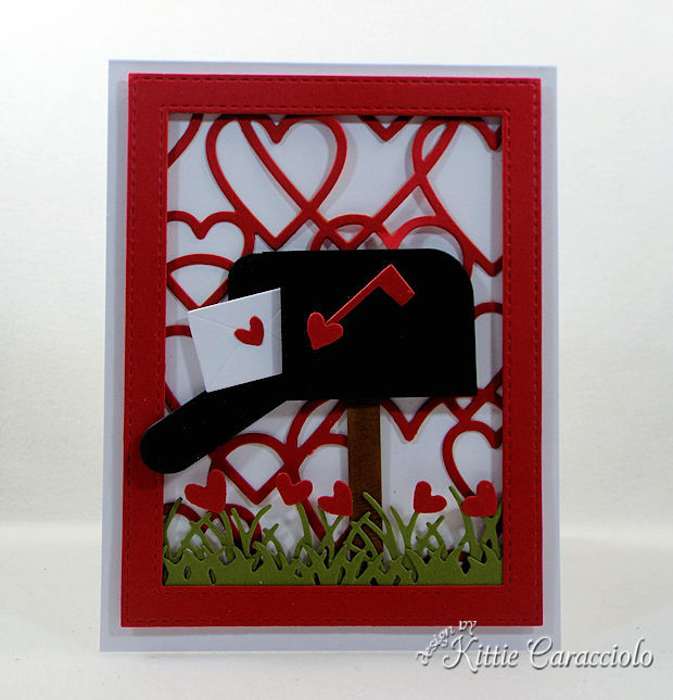 Making a Heart Framed Mailbox Valentine Scene card is so fun