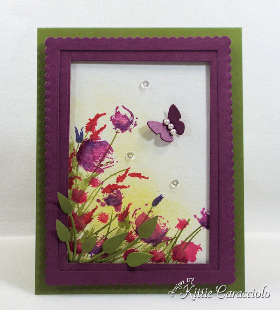 Framed watercolor wildflowers are so easy to make.