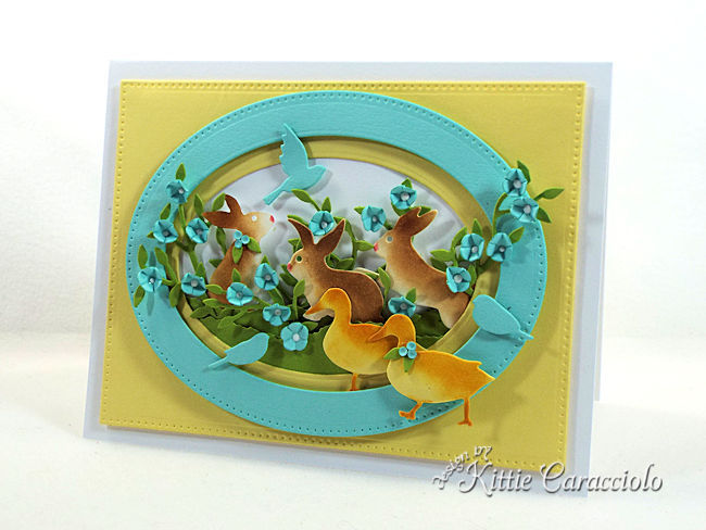 Die cut Easter bunnies, ducks and birds create such a sweet spring.