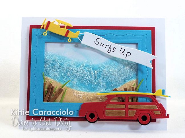 I woudl like to invite you to come see how I made this bright and sunny die cut woody and surf boards card.