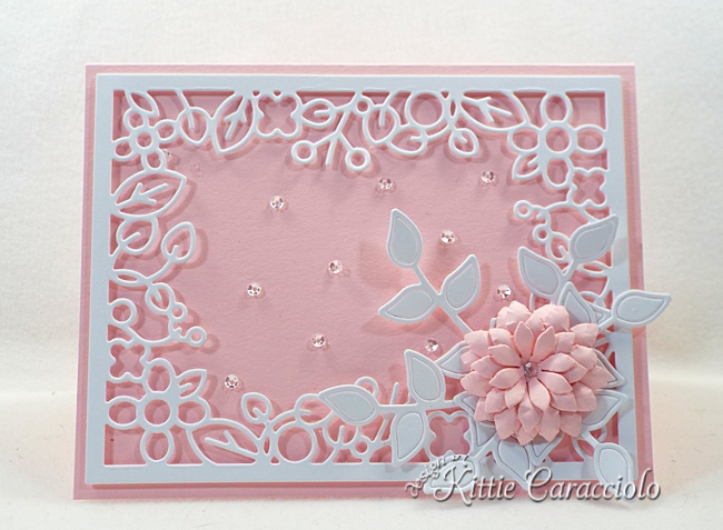 Come see how I made this lovely die cut floral frame card.