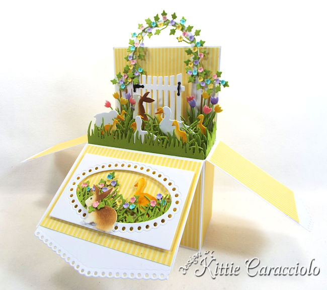 Come see how I made this pretty Easter Pop Up Box Card.
