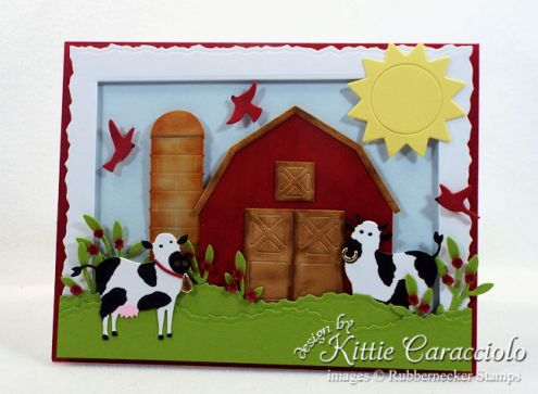 Rubbernecker Blog Come-see-how-I-made-this-die-cut-farm-animals-scene-card.