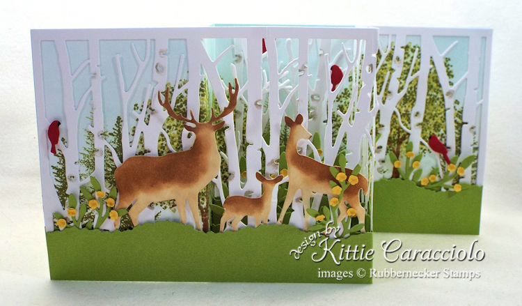 Come see how I made this spring Z fold birch and deer card.