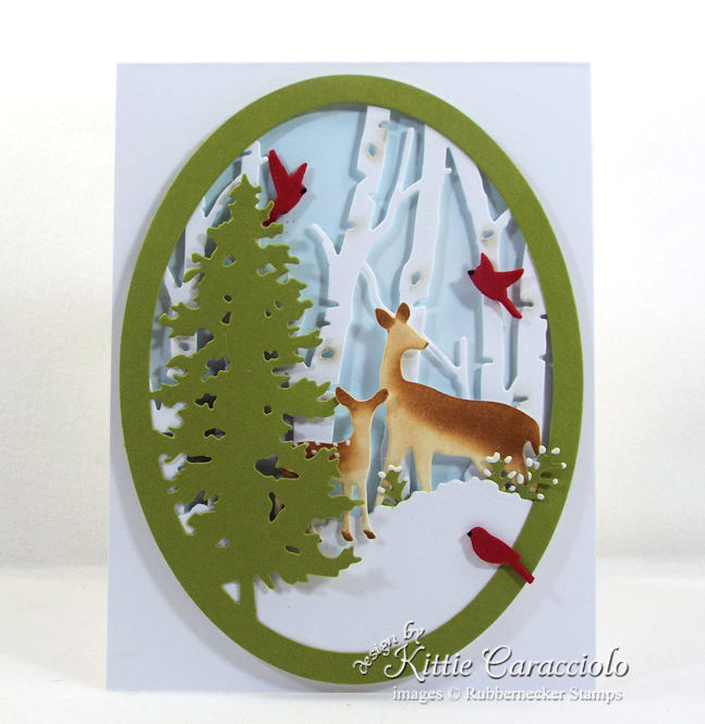 Come over to my blog to see how I made this crisp snowy nature deer scene card.