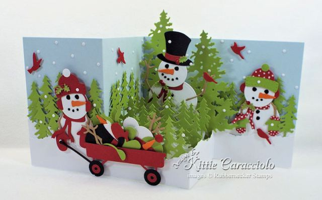 Come over to my blog to see how I made this fun Z Fold snowman card.