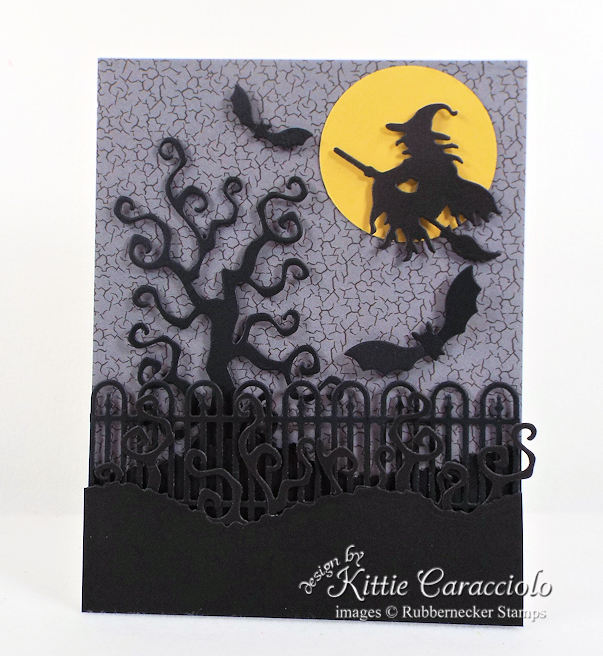 Come check out how I made this fun spooky witch halloween card.