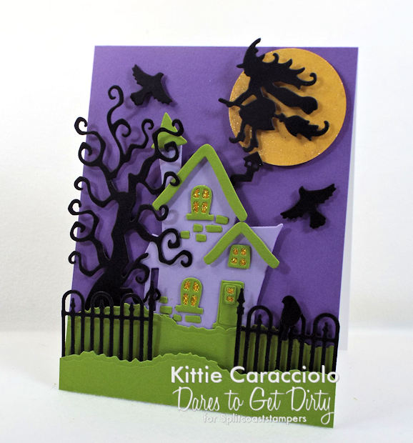 Come check out how I made this spooky house Halloween card.