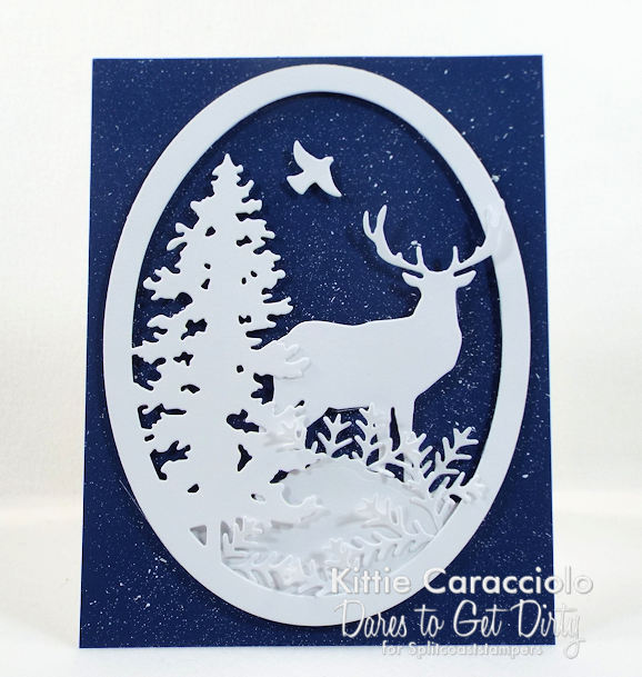 Come see how I made this pretty splatter snowy background.
