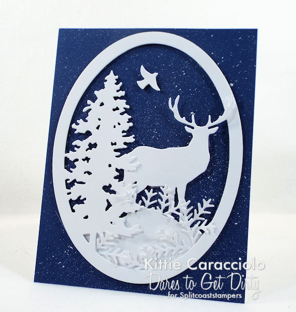 Come see how I made this splatter snowy background.