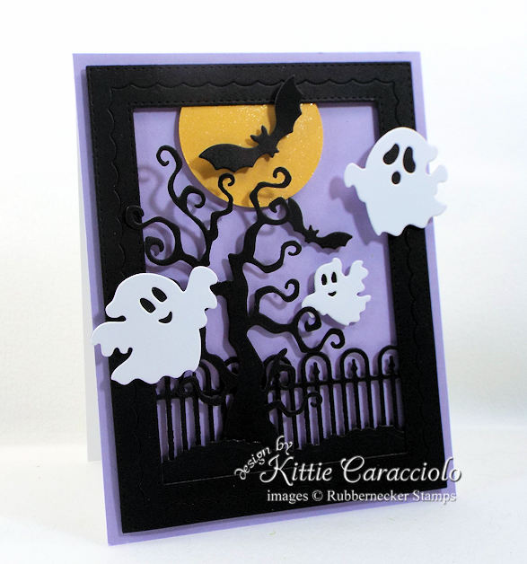 Come see how I made this spooky Halloween ghosts and bats card.