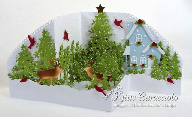 Come see how I made my scenic Z Fold Christmas card.