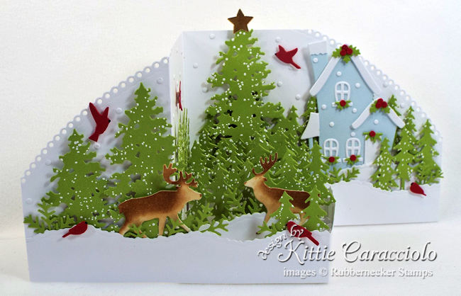 Come see how I made my winter Z Fold Christmas card.