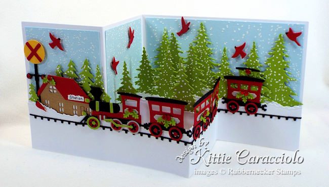 Come over to my blog to see how I made this fun Christmas train z fold card.