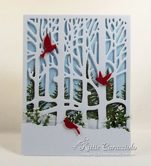 Come see how I made this snowy winter tree scene card.