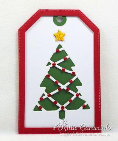 Come see how I made pretty handmade Christmas tags.