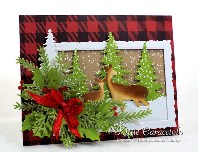 Rubbernecker Stamps Blog Come-see-how-I-made-this-mother-and-baby-deer-Christmas-card.