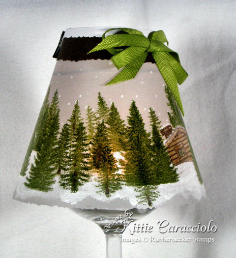 Come learn how to make a wine glass light using items from the dollar store and stamps and ink!