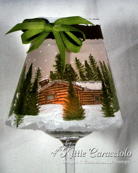 A wine glass light makes a gorgeous and easy gift - click through to learn how to make your own!