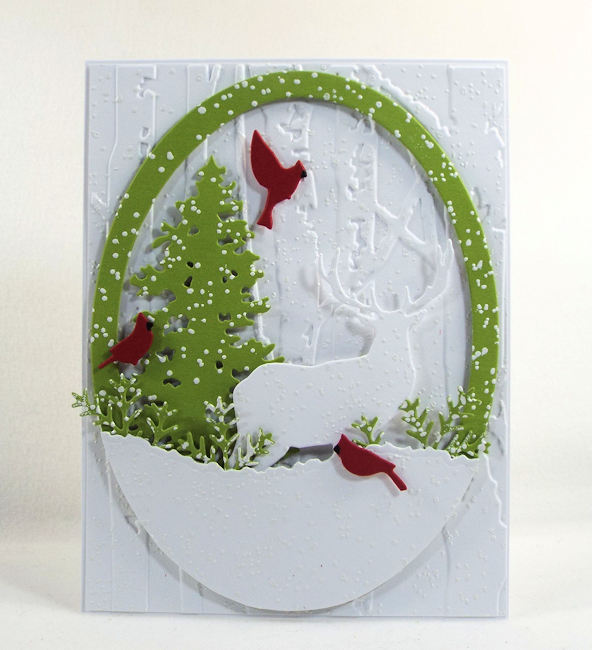 It's perfect timing for some more winter greeting cards - click through to learn how to make this beauty!