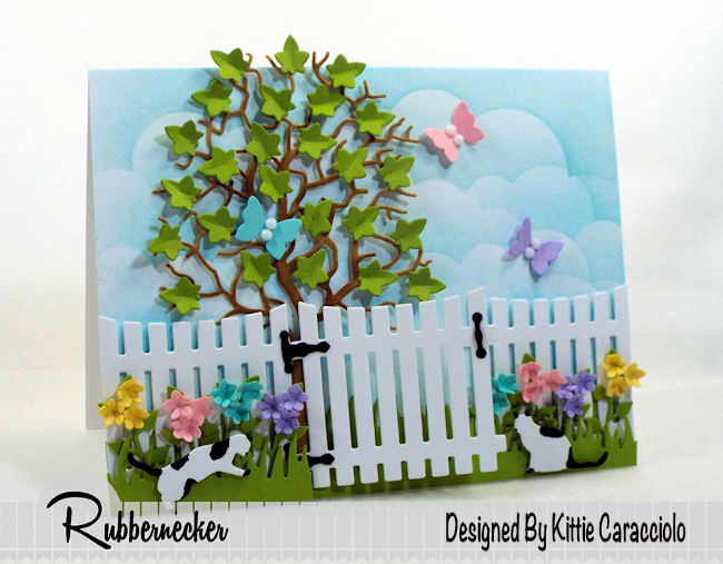 It's so fun to make a spring flowers and butterflies card with dies. Click thru to see how I used Rubbernecker dies to create this colorful scene.
