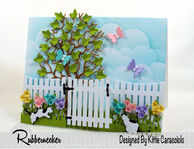 It's so fun to make a spring flowers and butterflies card with die cuts. Click thru to see how I used Rubbernecker dies to create this colorful scene.