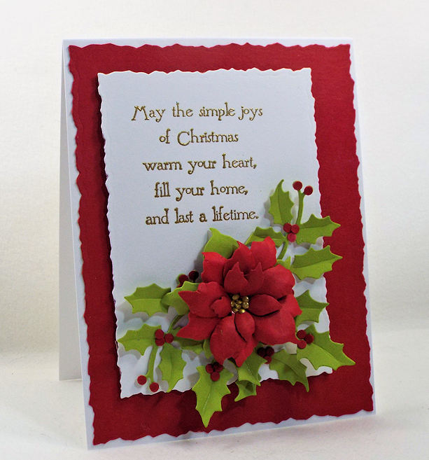 I love making paper poinsettias for Christmas cards, gifts, home decor and tags. Click thru to see how I made this beautiful holiday card.