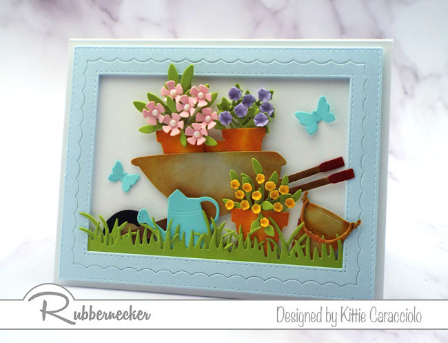It's never to early to send a Welcome Spring card - click through to see how fun this is to make!