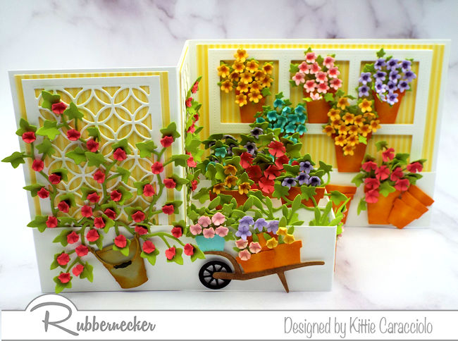 This Z fold box card flower shop was SO much fun to make - come see how you can make your own!