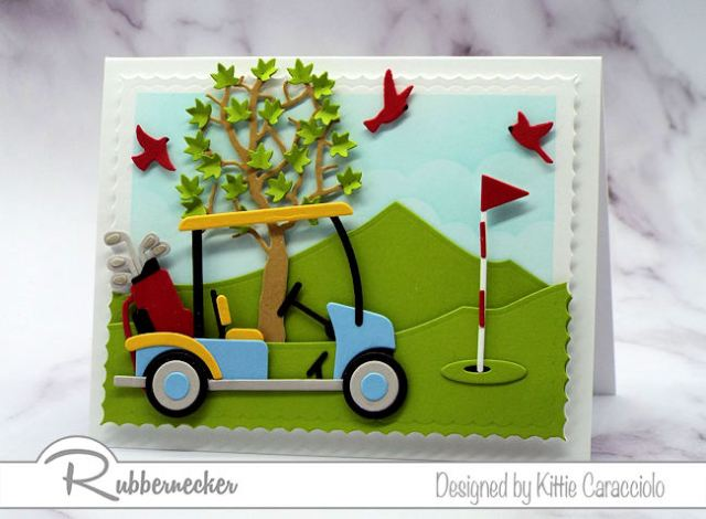 This fun golf cart card would be just the perfect thing to make for any golfer, for Father's Day or a masculine birthday.