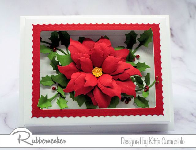 This paper flower shadow box was so much easier to make thanks to the new dies from Rubbernecker - come learn more!