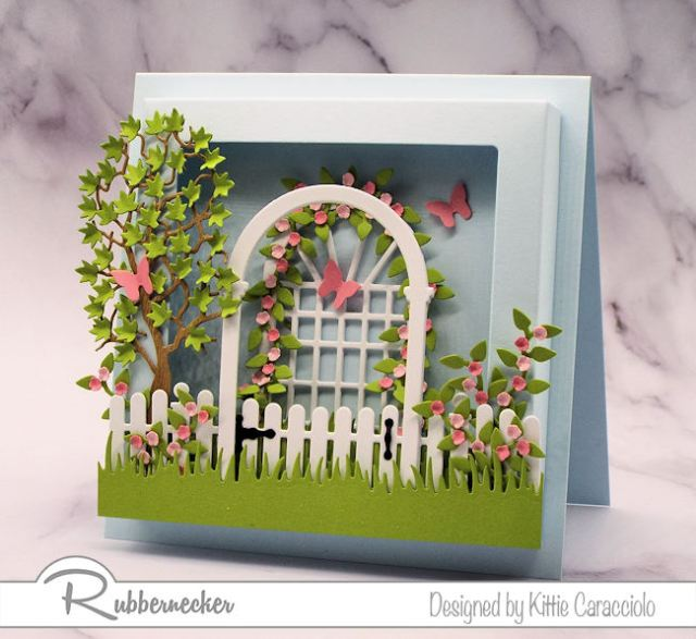 You can create wonderful dimensional scenes using the new Rubbernecker square shadow box frame.