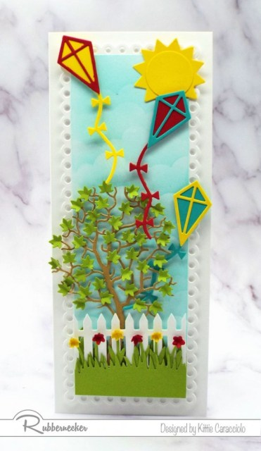 This handmade kite card might make you want to run to the park and play or to come see all the cute details.