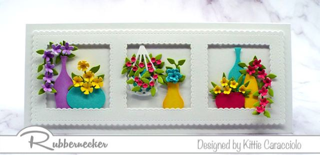 You will love making this slimline card with colorful flowers as much as your friend will love receiving it!