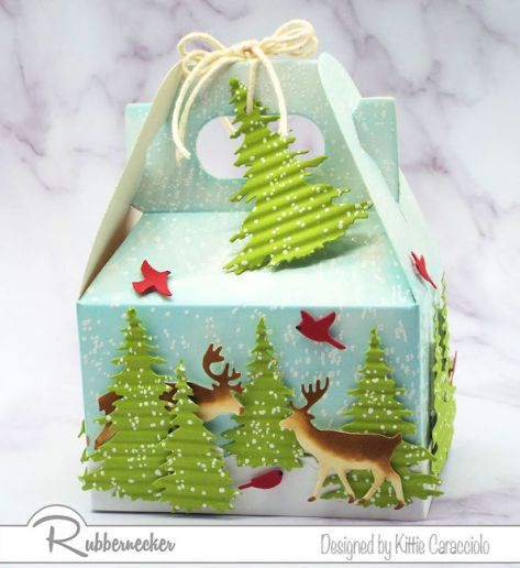 These DIY Christmas gift packages were made using a gable box but you can apply my idea to any type of container and have something just perfect for guy gifting!
