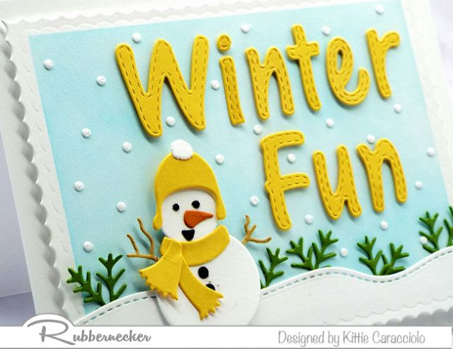 A cute handmade snowman card like this one with its cheerful little fellow is perfect to send warm winter wishes