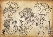 victorian tattoos carnivalflash2-300x212