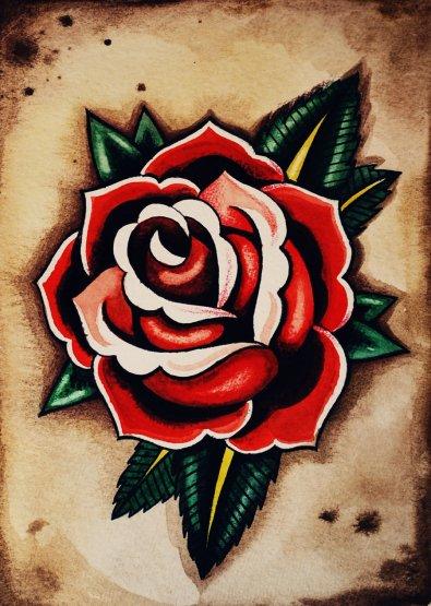 Classic-Old-School-Rose-Tattoo-Design-1