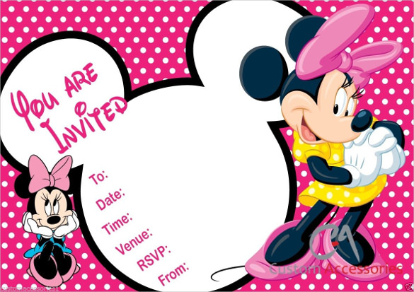 1st birthday free editable mickey mouse