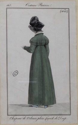 1817 Velvet bonnet and broadcloth coat