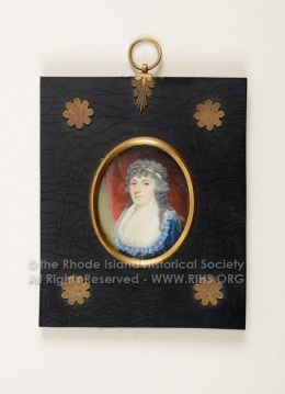 Sally Brown, miniature by Edward Malbone ca. 1795. RIHS 1972.21.2, Gift of Norman Herreshoff