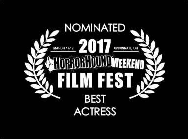 Connie's lead, Catrin Stewart, nominated for Best Actress at HorrorHound